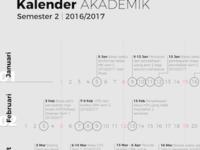 ITB Academic Calendar - WIP