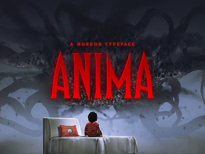 Anima Typeface rock metal fantasy music gaming game tall outline title cover album poster movie film typeface tugcu logo horror font creativemarket