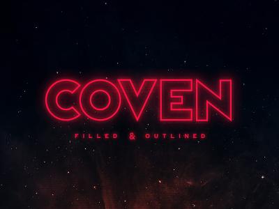 Coven Typeface album music tugcu title logo poster cover game design book sci-fi typeface font retro geometric futuristic creativemarket