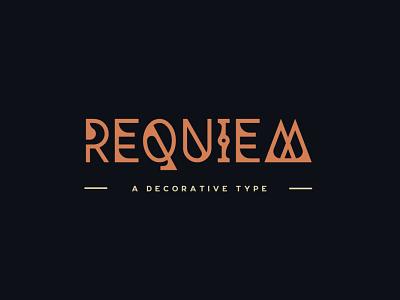 Requiem Typeface typeface font design tugcu title branding mystical occult music logo game font cover album creativemarket