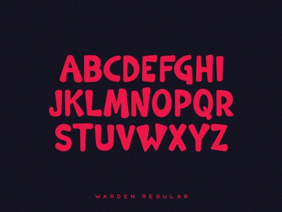 Warden Typeface tugcu typedesign comic film poster title music logo game font cover album creativemarket