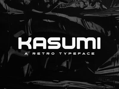 Kasumi Typeface logotype typeface fontdesign gaming retrofuturistic film poster title music logo game album font cover creativemarket