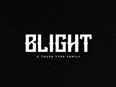Blight Typeface typeface metal rock blight tugcu gaming poster title music logo game album font cover creativemarket