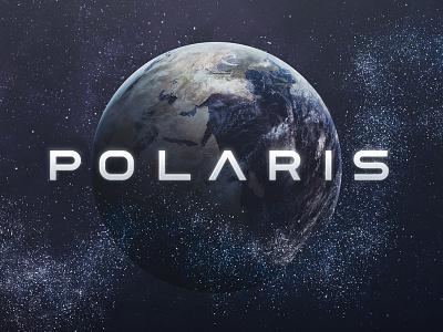 Polaris Typeface wide space poster tugcu cover logo title game movie typeface font futuristic sci-fi