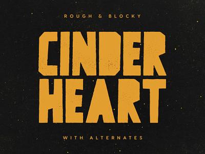 Cinderheart Typeface comic urban grunge film typeface tugcu album font cover title logo game creativemarket