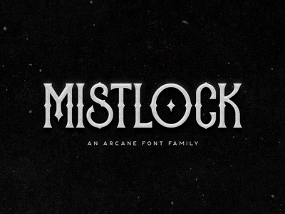 Mistlock Typeface typeface font title magic album music rock metal cover book branding logo tugcu fantasy