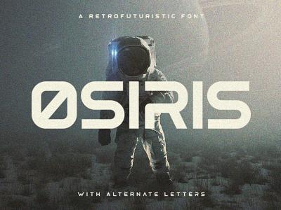 Osiris - Futuristic Font nasa retrofuturistic typography sci-fi futuristic gaming tugcu typeface poster game album cover font creativemarket title logo