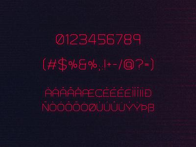 Bios Typeface cyberpunk sci-fi scifi futuristic tugcu poster typeface game album cover font creativemarket title logo