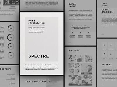 Spectre - Vertical Presentation business portfolio vertical spectre minimal template presentation print powerpoint