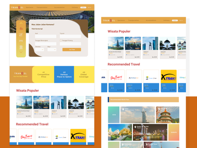 Travel Apps: TRANSEL (Part 2) ecommerce travel design ui user experience figma ux