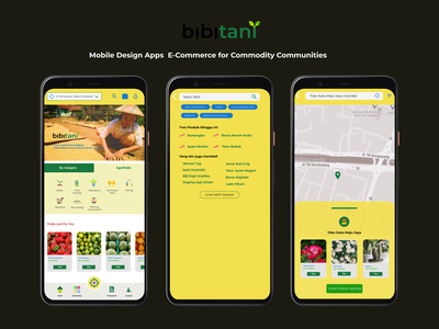 Mobile App: bibitani commodity mobile app ux ecommerce design user experience ui figma