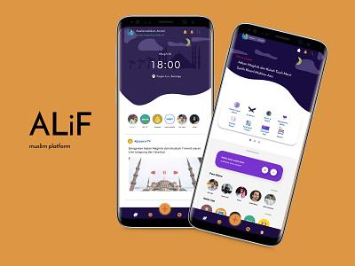 ALiF - muslim platform exploration islam apps muslim mobile app design user experience figma