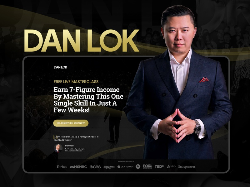Landing Page Redesign Concept for Dan Lok