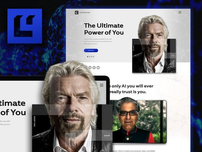 Website Redesign Concept for AI Foundation