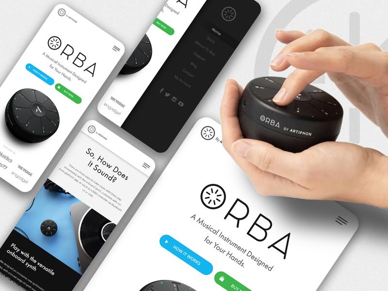 Website Redesign Concept for ORBA