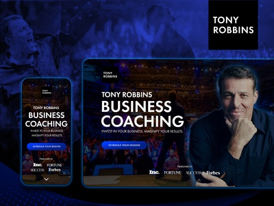 Landing Page Redesign Concept for Tony Robbins