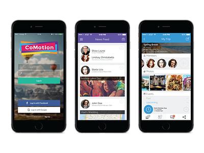 CoMotion UX/UI design ux  ui app ui design app mobile app design mobile ui mobile app app product design branding ux product ui portfolio design