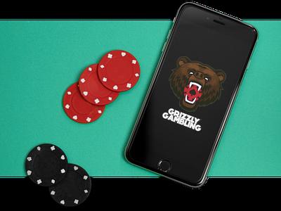 Grizzly Gambling Logo branding design brand design brand identity logodesign logo design casino online casino portfolio typography illustration branding illustrator grizzly bear design logo