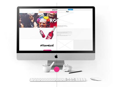 Wine+Chill UX|UI shop wine ecommerce web design webdesign website ux ui branding portfolio design