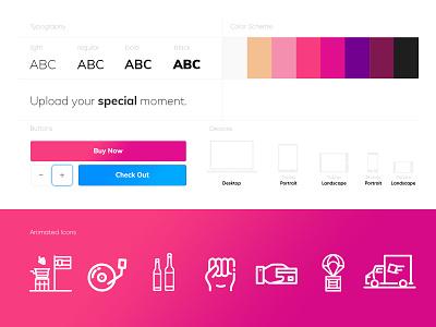 Wine+Chill Design Style board wine brand ecommerce ecommerce shop styleguide moodboard uidesign shop logo webdesign website web design branding ui portfolio design