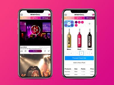 Wine+Chill mobile design mobile ui shop wine uidesign ecommerce ux webdesign website web design ui branding portfolio design