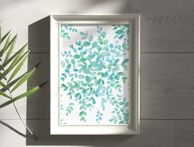 Leaves Handpainted Watercolor Clipart Collection