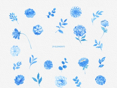 Blue Watercolor Flowers Handpainted Clipart Peonies floral art watercolour painting graphicdesign floralart download blue wreath bouquet png illustration painting clipart floral flower design graphics handpainted watercolor