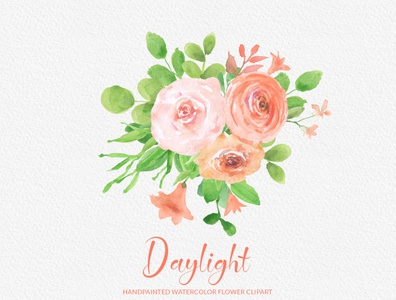 Day Light Handpainted Watercolor Flower Clipart | PNG
