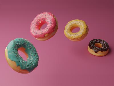 Donut Day | 2020 cute art kawaii 3dmodel illustration render sprinkles blender 2.8 3d art doughnut donut blender 3d 3dmodelling 3d