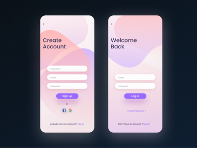 Sign in / Sign up Light UI ui user interface uxdesign uidesign sign up form sign up ui sign in form sign in mobile uiux mobile ui design mobile app login design login screen login form log in screen form ui light ui light mode creative design account