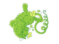 cucumber - sweetie kitty cat cartoons animation vector character cartoon app toy logo design illustration