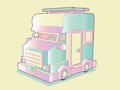 A car for traveling. children vector illustration ice cream modeling travel car