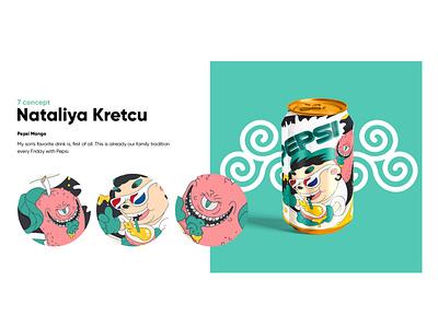 Mango Pepsi graphic design branding toy character cartoon vector design illustration