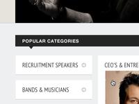 Speakers Categories