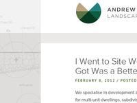 Landscape Architecture Website