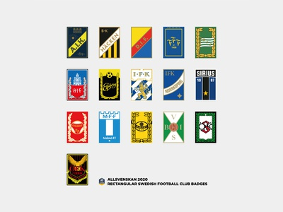 """If the football badges was all rectangle?"""