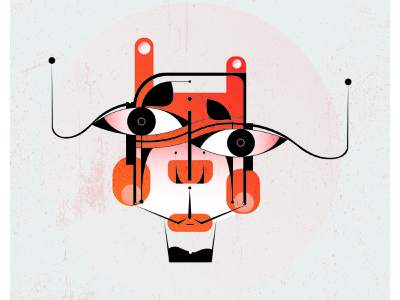 Face illustrator face contemporary adobe design abstract art art visual art surrealism expressionism illustration vector abstract
