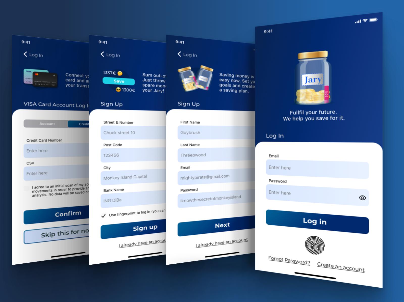 Money Saving App Ios Onboarding Log In Jary By Andrej Olsen On Dribbble