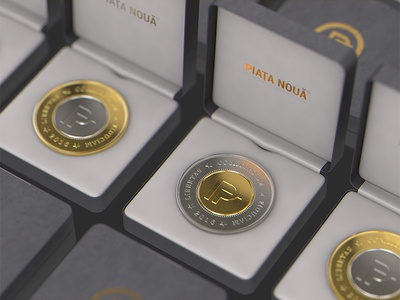 3D gift coins visualization concept