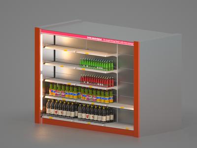 Market Shelves Free 3D model