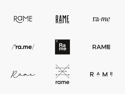 Rame logo exploration
