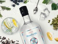 Blomfield's Gin label