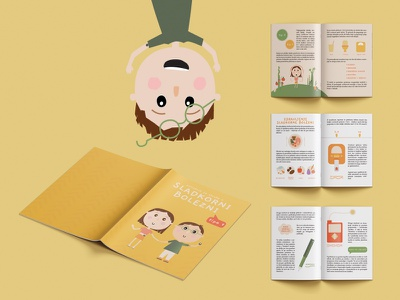 Children's Brochure on Type 1 Diabetes diabetes children kids indesign illustrator brochure booklet design booklet