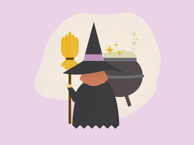 Halloween illustrator illustration purple spooky halloween design halloween witch