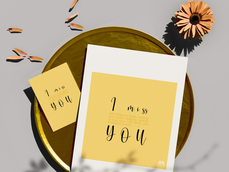 I Miss You Templete feelings typography templete i miss you quote