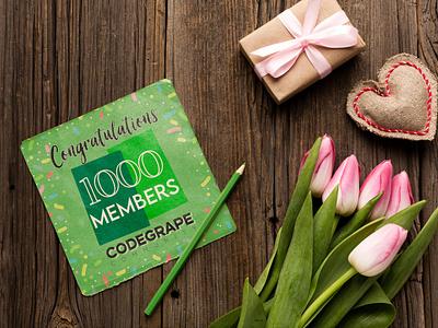 Congratulations Codegrape Community for 1K Members graphics members 1k congratulations codegrape