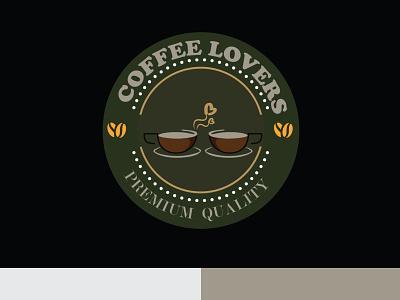 COFFEE Lovers Logo relax retro logo vintage coffee lovers coffee branding design logo