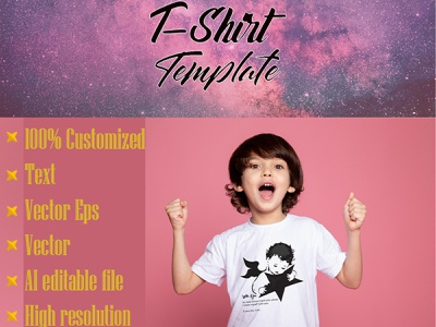 t shirt template concept clean quotes t shirt typography creative color template t shirt template kids t shirt child vector artistic illustration art