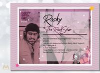 Rocky, The RockStar 🤘💗 graphics design