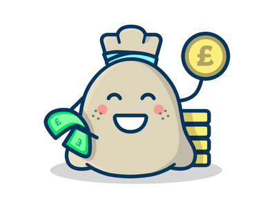 Mr Money Bags 💸 sketch character save pound bag money